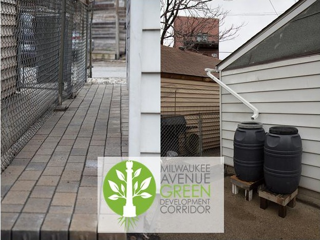 MPC's Milwaukee Avenue Green Development Corridor grants are prompting homeowners to install green infrastructure.