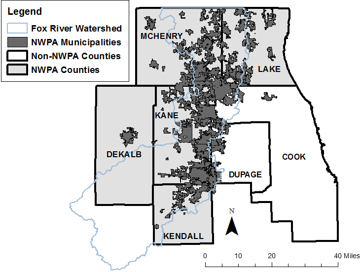 The NWPA encompasses roughly 80 communities in five counties.