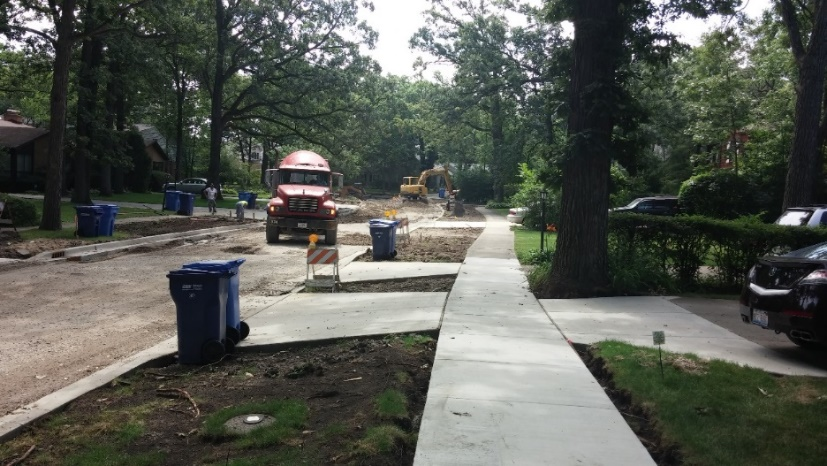 Highland Park storm sewer work