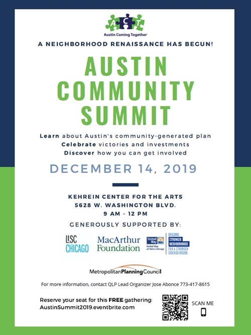 Event poster for Austin Community Summit