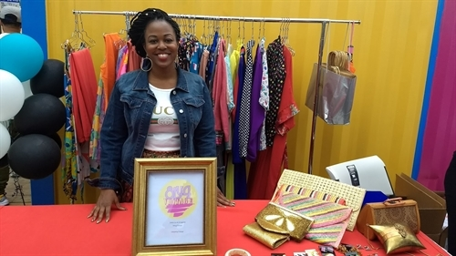 Margarita Williams, owner of 8ty4 Vintage, vending at the Boxville event launch.