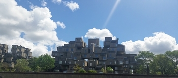A view of Habitat 67 public housing development