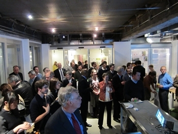 Guests mingle at CNU's Live/Work/Walk initiative launch.