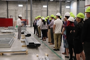 Leadership Circle Members get a tour of the Skender manufacturing facilities