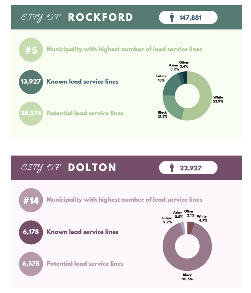 graphic, city of rockford and dolton demographics