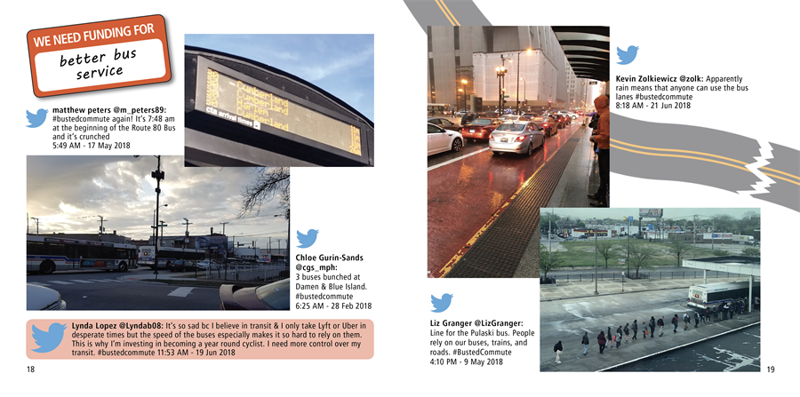 #BustedCommute sample tweets from participants